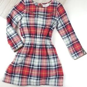 Girls Hanna Andersson Plaid Dress Flannel Red